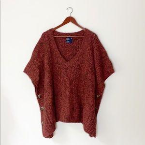 NEW American Eagle | Wool sweater poncho XXL